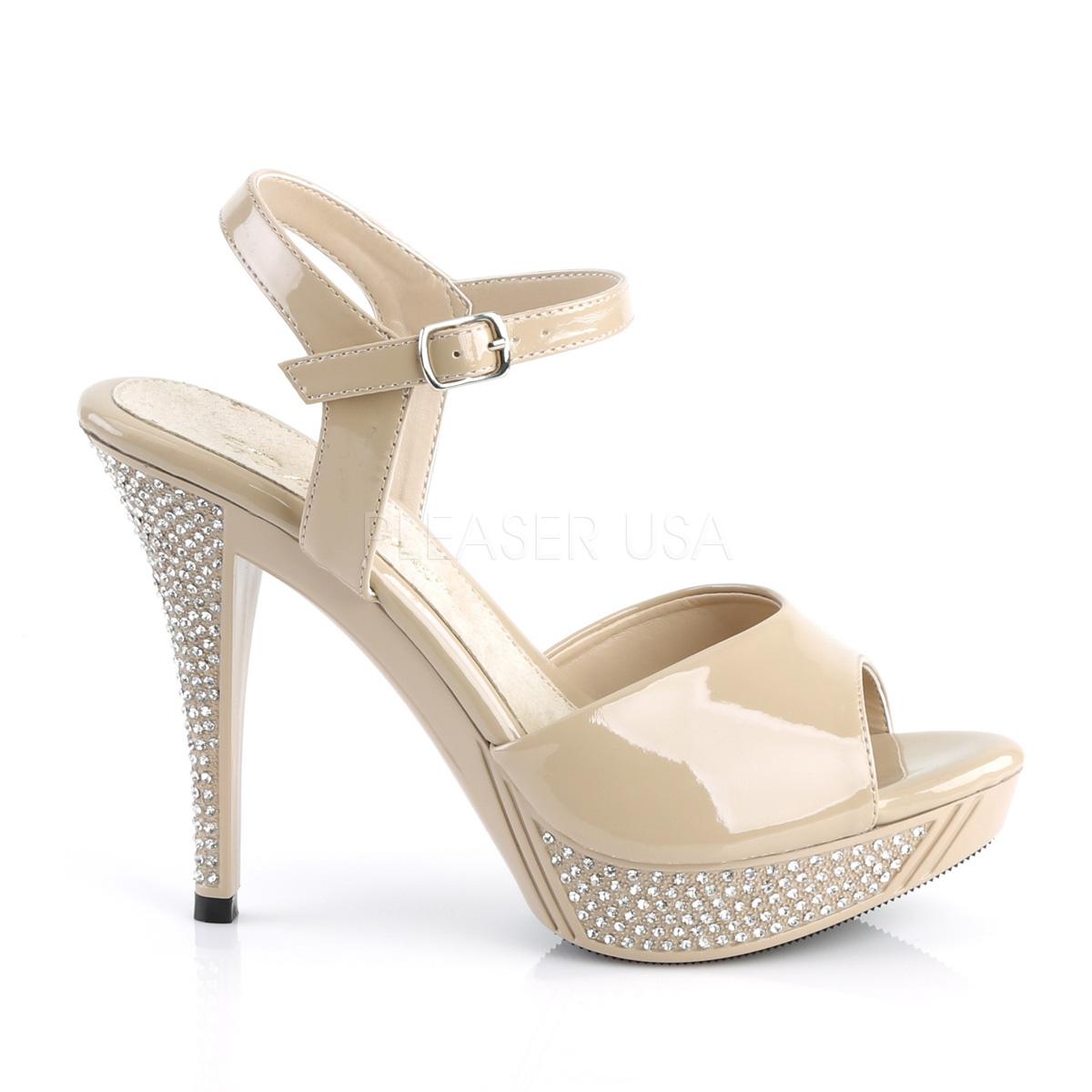 409 Mujer Sandalias Plataforma Cm Elegant 12 Beige Strass mNvwn0O8