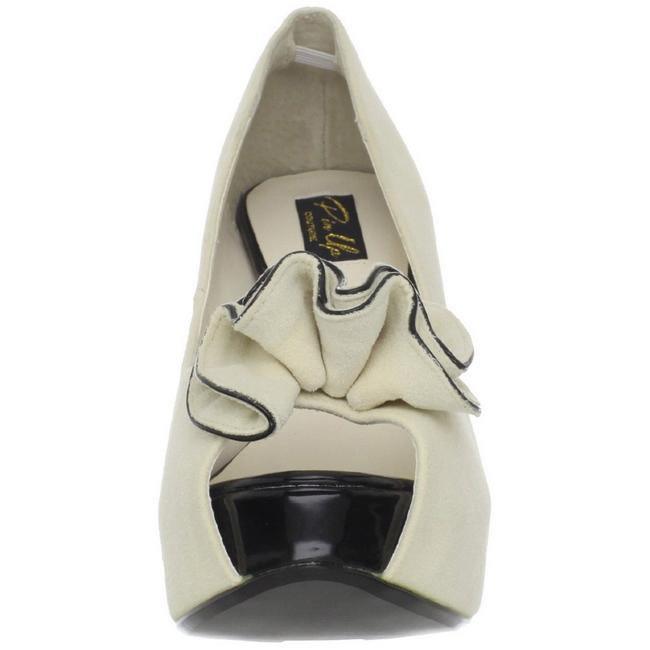 Beige Gamuza 13,5 cm LOLITA 10 Plataforma Zapatos de Salón