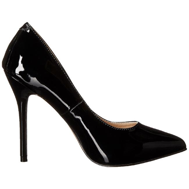 Black Shiny AMU20/B PLEASER big size High Heels Pumps for Men ...