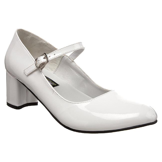 080bb3c1ec Blanco Charol 5 cm SCHOOLGIRL-50 Zapato Salón Clasico para Mujer