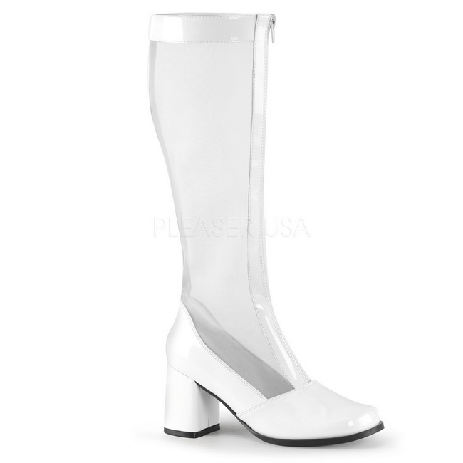 064f938954 Blanco Charol GOGO307 W FUNTASMA Botas femeninos Tallas Grandes ...