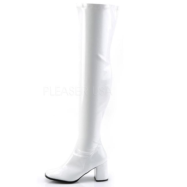Cm 3000 Mosqueteras Lacado 8 Blanco Knee Over Gogo Botas The 7qTnpHxwE