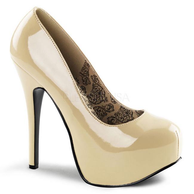 Zapatos 14 Bordello 5 Charol De 06 Plataforma Salón Cm Crema Teeze tdxohrsQCB