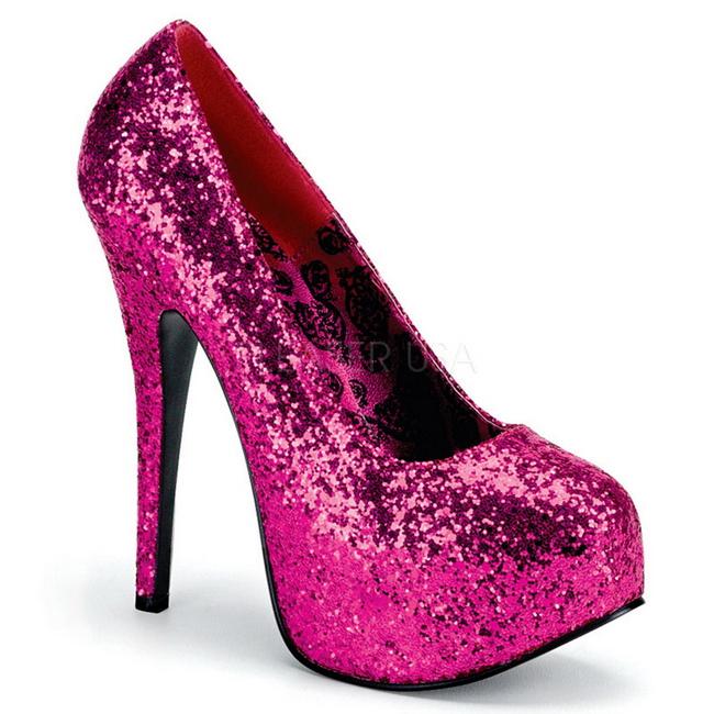 desigual en el rendimiento Cantidad limitada límpido a la vista Fucsia Brillo 14,5 cm BORDELLO TEEZE-06G Plataforma Zapatos de Salón