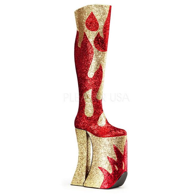 Gold Glitter SPLA3020/R-GG Devious Thigh High Boots for Drag Queen ...