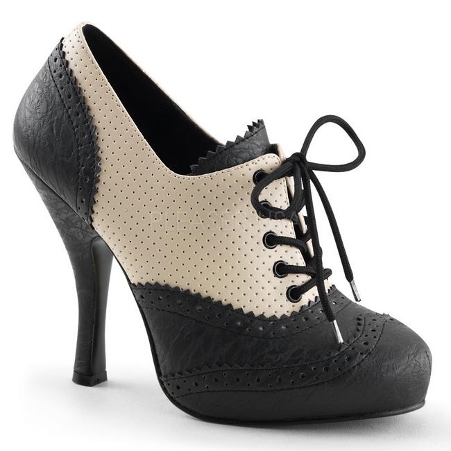 presentación calidad estable bastante baratas Negro Beige 11,5 cm CUTIEPIE-14 Calzado de Salón Oxford Tacón