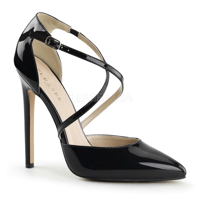 Negro Cm Mujer Para Charol Zapato Clasico 26 Sexy 13 Salón DeIWH9E2Y