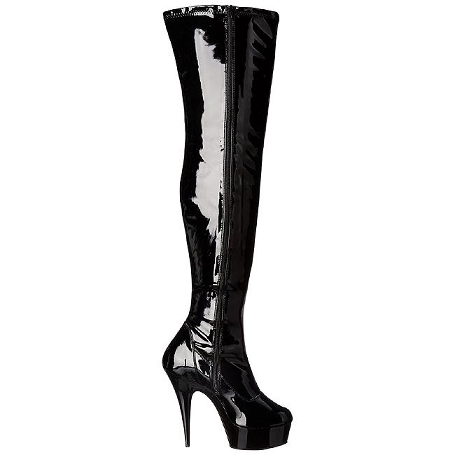 Bondage en botas de muslo negro fotos