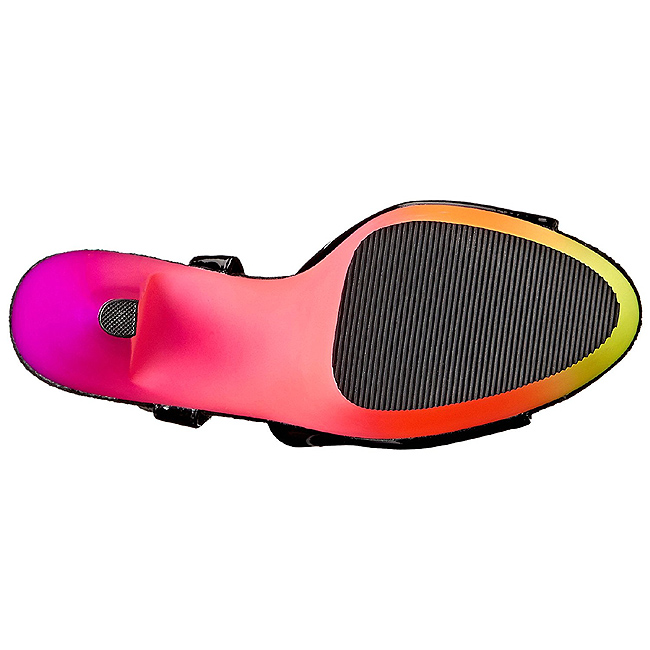 5 209uv Negro Lacado Neon Rainbow Cm Sandalias Plataforma Mujer 15 CrxWQdBoeE