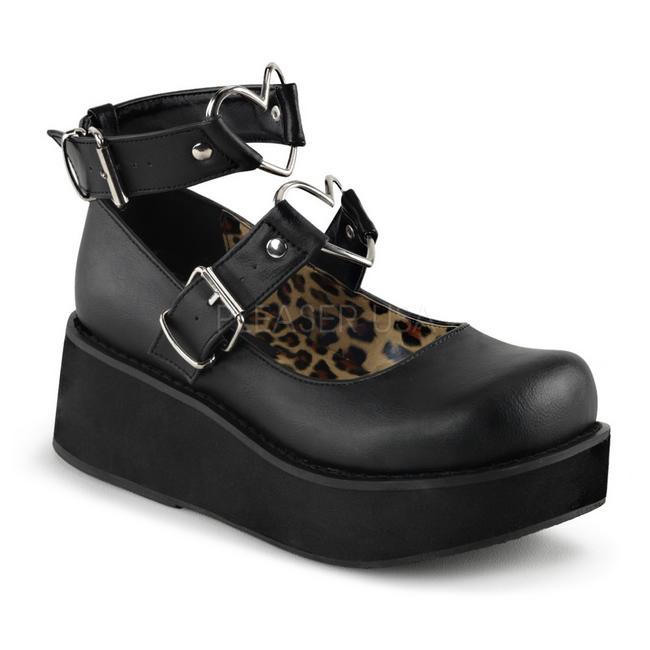 Zapatos de lolita negros ofFdMrfr