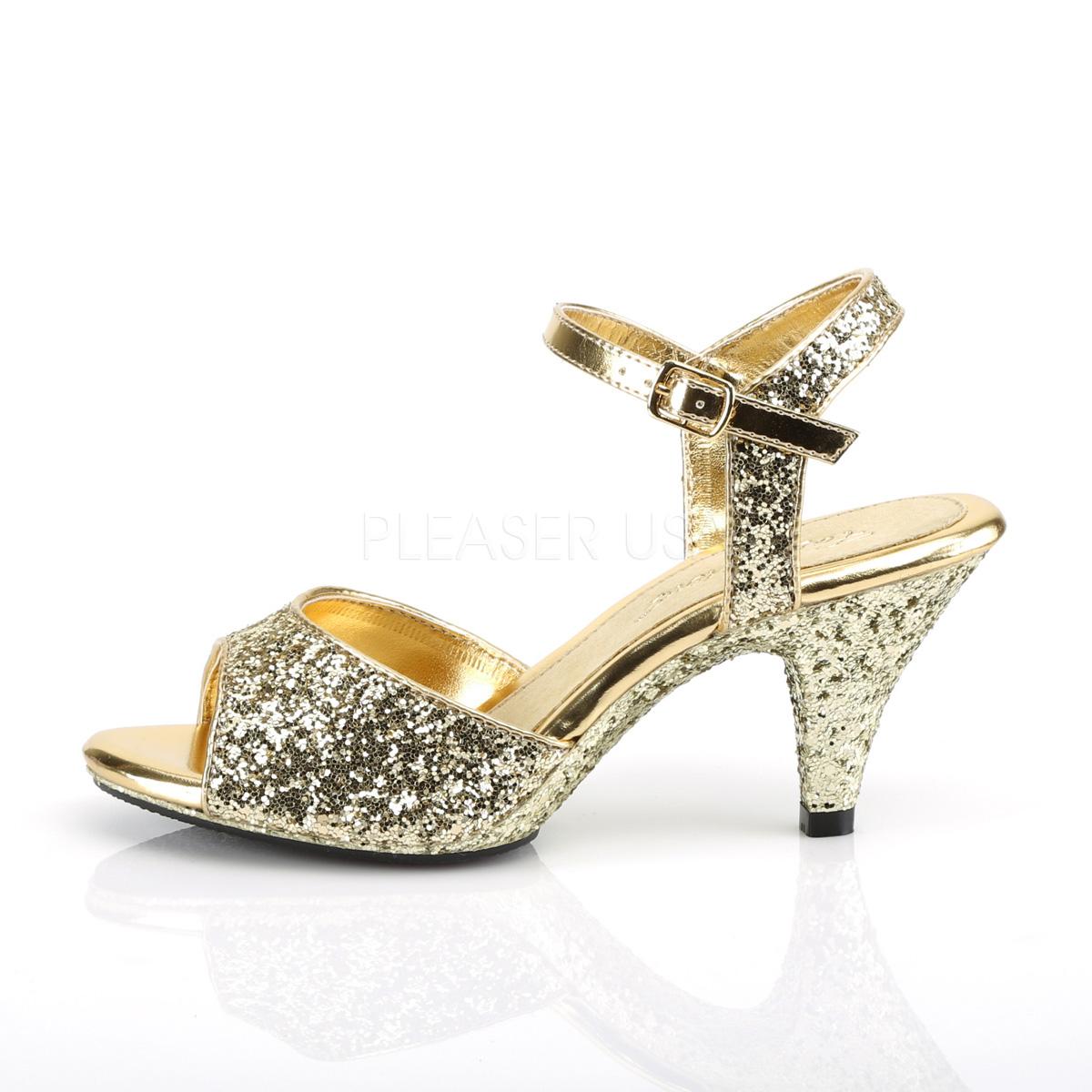 Oro De Belle Fabulicious Tacón Cm Alto 8 Sandalias Brillo 309g bfyvgY67