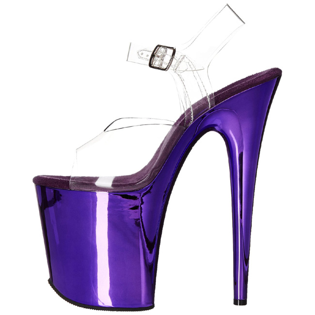 Purple 20 cm FLAMINGO-808 Chrome Platform High Heels - comprar en ...