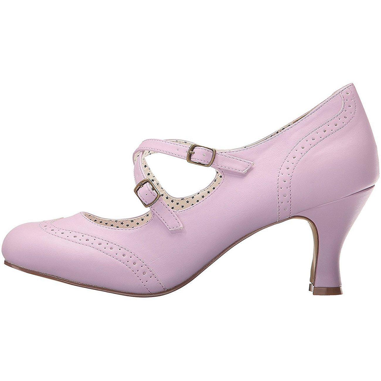 d944f12f6 35 Salón 5 Purpura Cm Pinup 7 De Flapper Zapatos Tacón Bajo xI4q8A4