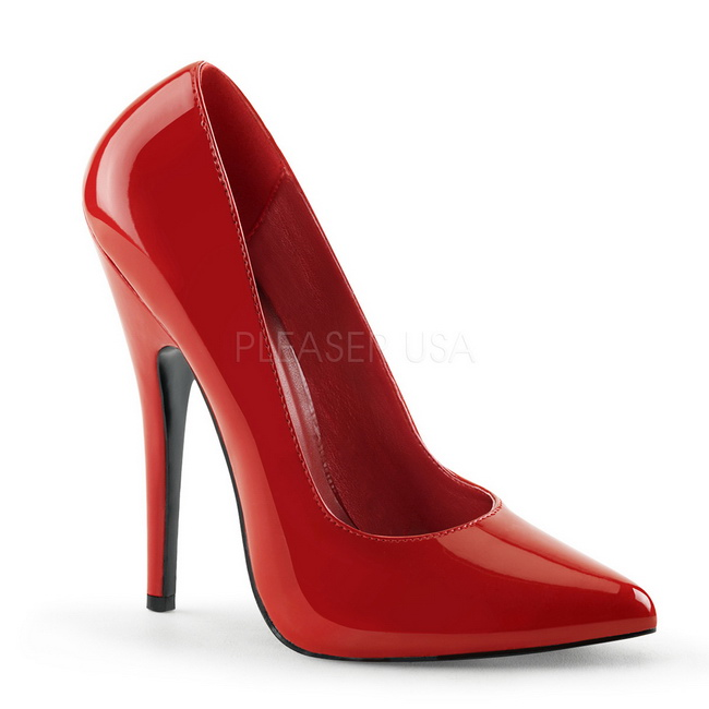 Red Shiny DOM420/R DEVIOUS big size High Heels Pumps for Men women