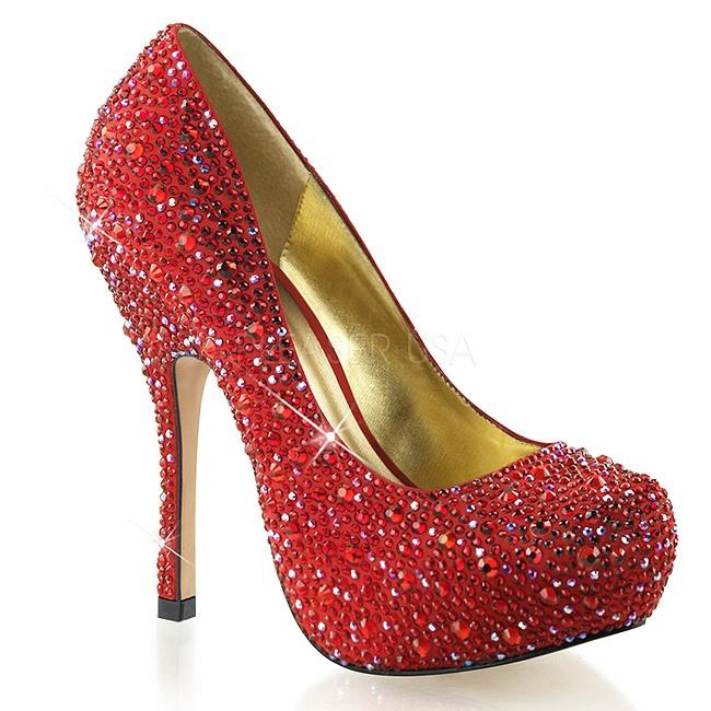 comprar real seleccione para el más nuevo clientes primero Rojo Piedras Brillantes 13,5 cm FELICITY-20 Zapatos de tacón altos mujer
