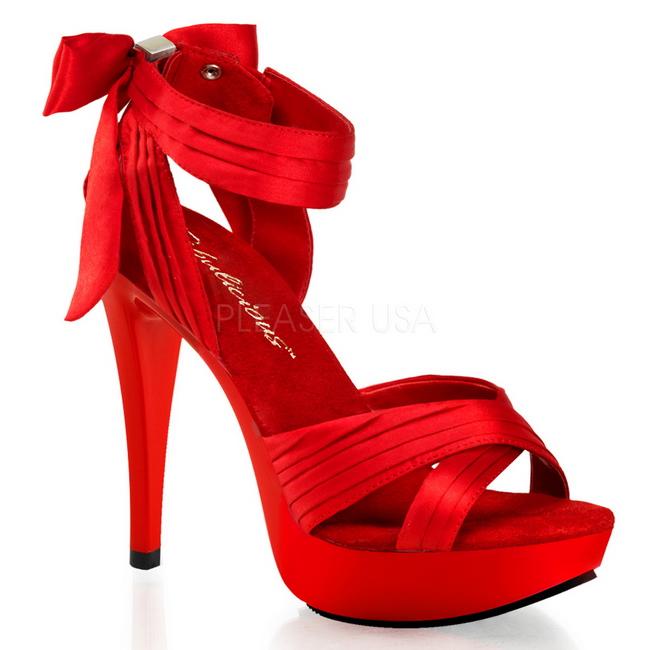 venta caliente buena calidad revisa Rojo Satinado 13 cm COCKTAIL-568 Zapatos de Tacón Alto