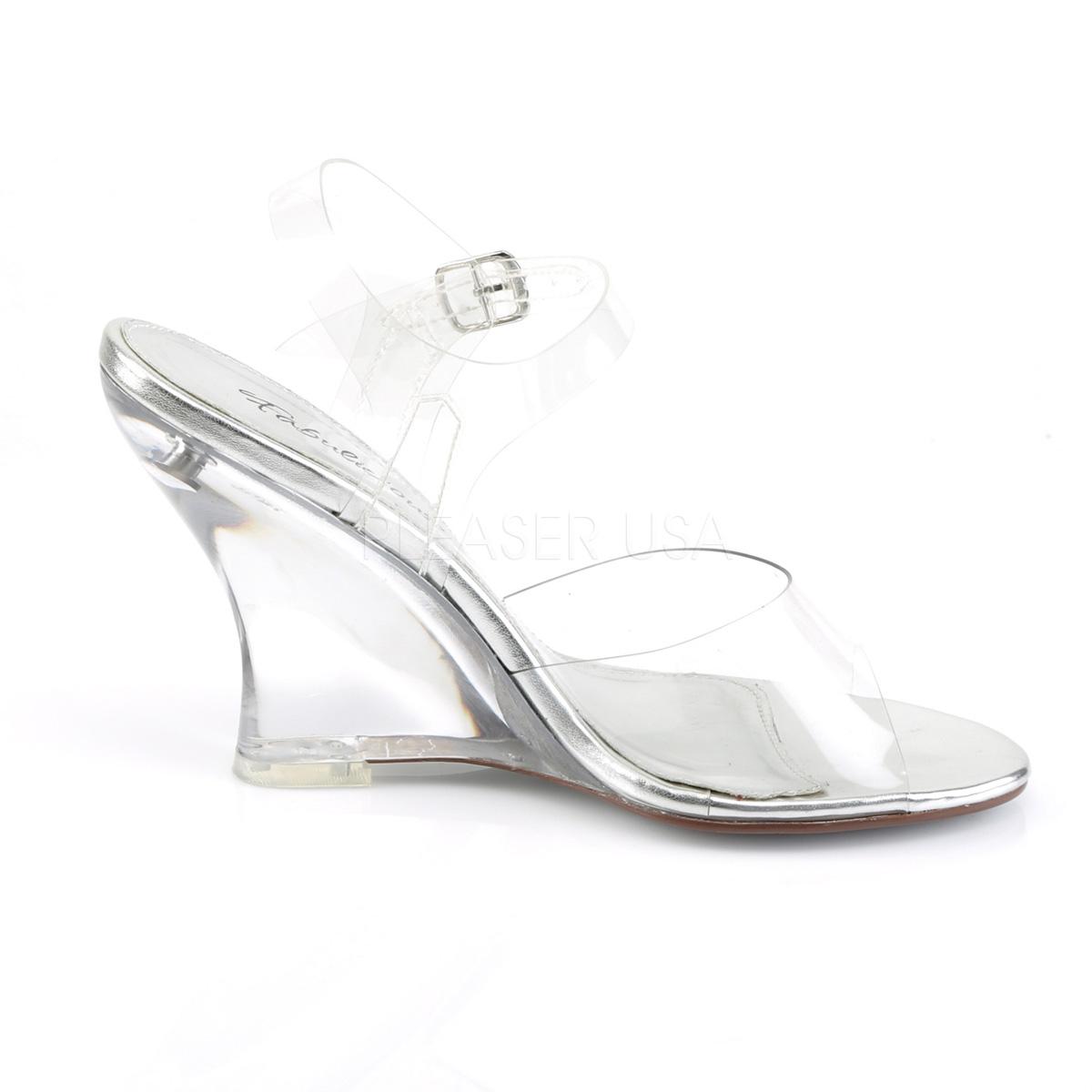408 Sandalias De Lovely Transparente Con Cuña 5 10 Tacón Cm wmN80yOvPn