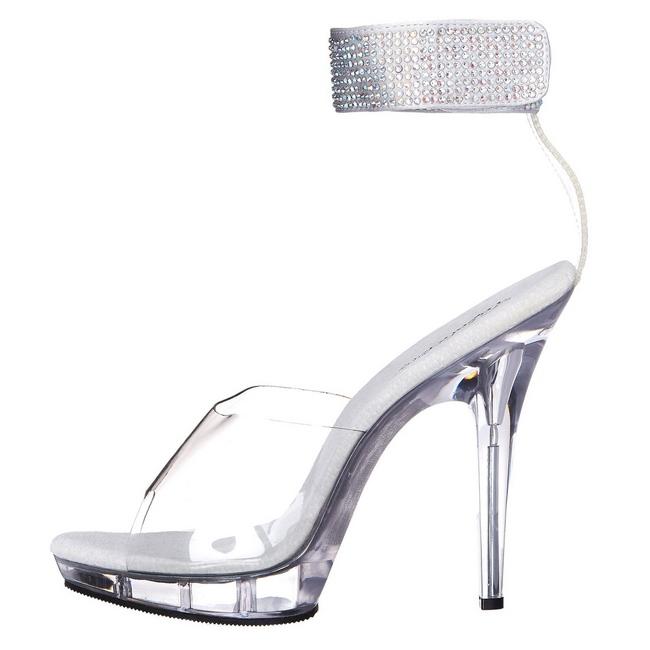 13 Plataforma Zapatos Strass Cm Transparente Alto Acrilico Lip 142 Tacón 3qjARL54