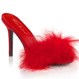 Rojo Plumas 10 cm CLASSIQUE-01F Zuecos de mujer para Hombres