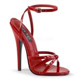 Rojo 15 cm Devious DOMINA-108 sandalias de tacón alto