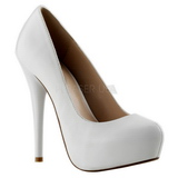 Leather White 13,5 cm GORGEOUS-20 Platform Stiletto Pumps