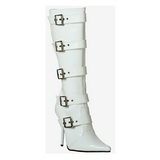 White Patent 11,5 cm Pleaser MILAN-2015 Women Knee Boots