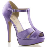 Purple Satin 13 cm LOLITA-20 High Heeled Evening Sandals