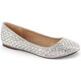 Plata Fabulicious TREAT-06 cristal piedra zapatos de bailarinas