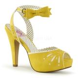 Amarillo 11,5 cm Pinup BETTIE-01 sandalias de tacón alto