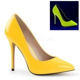 Amarillo Neon 13 cm AMUSE-20 Stiletto Zapatos Tacón de Aguja