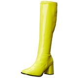 Amarillo Neon 8,5 cm FUNTASMA GOGO-300UV Botas Media Mujer