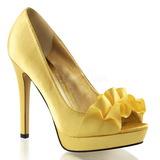 Amarillo Satinado 12 cm LUMINA-42 Zapato Salón de Noche con Tacón