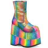Arco iris Glitter 18 cm STACK-201 Botinha Plataforma de Hombres