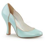 Azul 10 cm SMITTEN-04 Pinup zapatos de salón tacón bajo