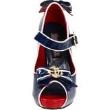 Azul 11,5 cm ANCHOR-22 Zapatos de tacón altos mujer