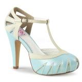 Azul 11,5 cm BETTIE-25 Pinup zapatos de salón con plataforma escondida