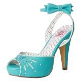 Azul 11,5 cm Pinup BETTIE-01 sandalias de tacón alto