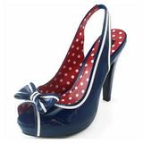 Azul 11,5 cm retro vintage BETTIE-05 Zapatos de tacón altos mujer