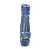 Azul 15 cm DELIGHT-1030 Zapatos de lona con tacón