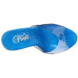 Azul 18 cm ADORE-701LG brillo plataforma zuecos tacón mujer
