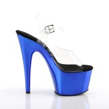 Azul 18 cm ADORE-708 Cromo Plataforma Tacones Altos