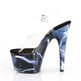 Azul 18 cm ADORE-708STORM Holograma plataforma sandalias de tacón alto