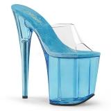 Azul 20 cm FLAMINGO-801T Plataforma Zapatos Mules Mujer