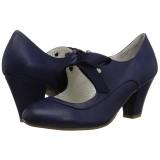Azul 6,5 cm WIGGLE-32 Pinup zapatos de salón tacón ancho