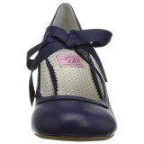 Azul 6,5 cm WIGGLE-32 retro vintage zapatos de salón maryjane tacón ancho