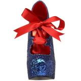 Azul Brillo 14,5 cm TEEZE-10G Platform Calzado de Salón