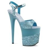Azul Brillo 20 cm Pleaser FLAMINGO-809-2G Tacones Altos Plataforma