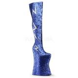 Azul Brillo 34 cm VIVACIOUS-3016 Botas Altas para Drag Queen
