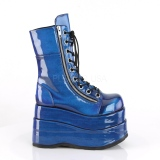 Azul Charol 11,5 cm BEAR-265 botines demonia plataforma