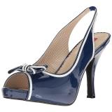Azul Charol 11,5 cm PINUP-10 sandalias tallas grandes